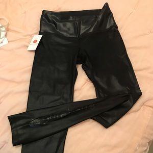 Brand New! Pure Barre black glossy legging!